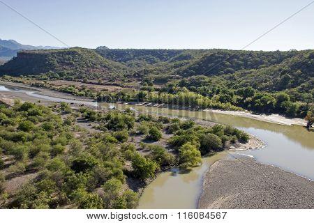 Fuerte River Delta In Sinaloa