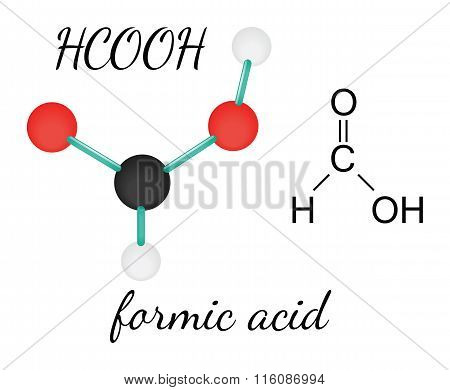 HCOOH formic acid molecule