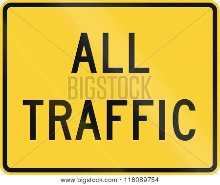 Road Sign Used In The Us State Of Delaware - All Traffic