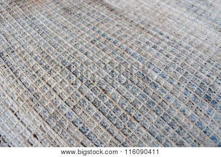Square Network Of Old Carpet