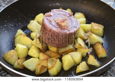 Canned Beef Meat With Potatoes