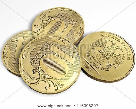 10 rubles coins