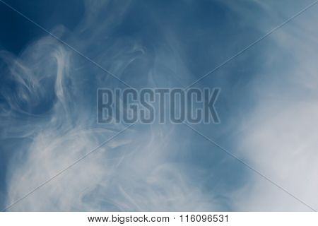 blue smoke background with copy-space
