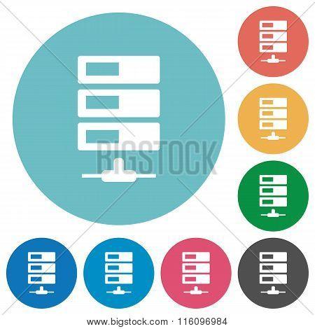 Flat Data Network Icons