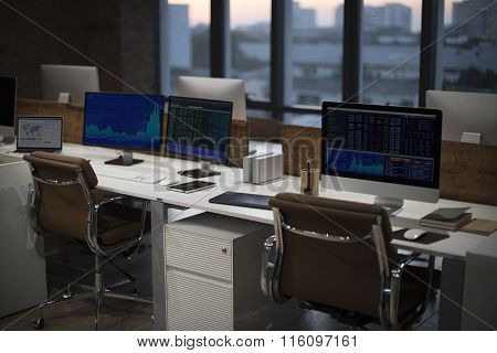 Office FInance Workplace Trading No People Concept