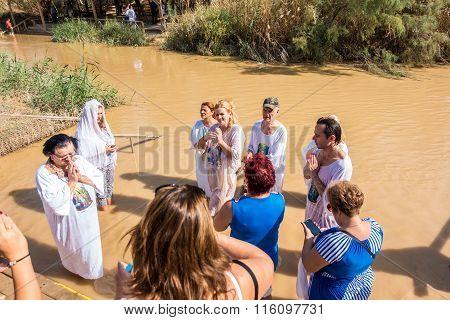 Christian Baptism In Jordan River