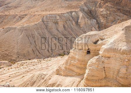 Cave In Qumran, Where The Dead Sea Scrolls Were Found