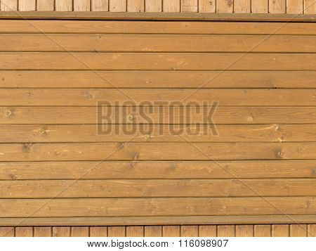 Wooden Pine Boards On The Wall