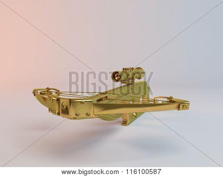 Imaginary 3d Golden crossbow