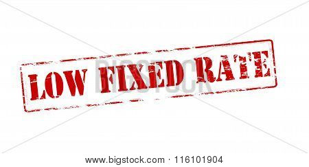 Rubber stamp with text low fixed rate inside vector illustration
