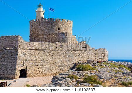 Agios Nikolaos Fortress. Rhodes, Greece