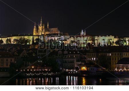 View Of Prague At Night