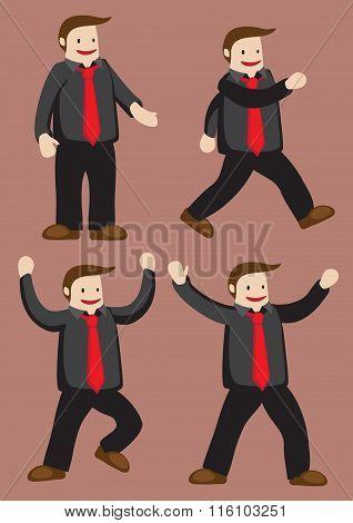 Funny Happy Guy Cartoon Vector Character Illustration