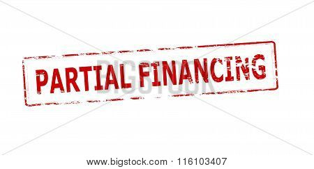 Rubber stamp with text partial financing inside vector illustration