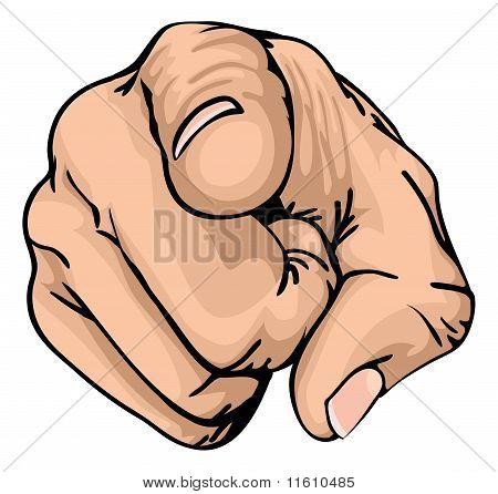 指向手指 库存矢量图和库存照片