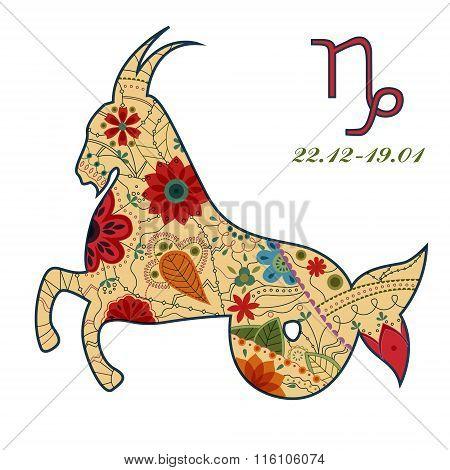 Capricorn zodiac sign retro
