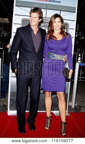 Rande Gerber and Cindy Crawford at the Los Angeles Premiere of