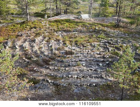 Ancient labyrinth in Northern Russia