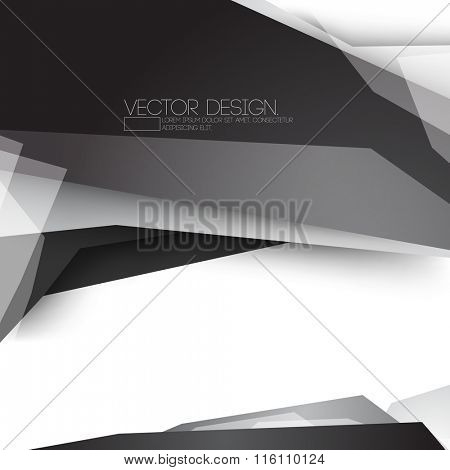 geometric modern black and gray material vector design