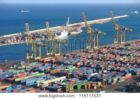 Port Of Barcelona - Logistics Area