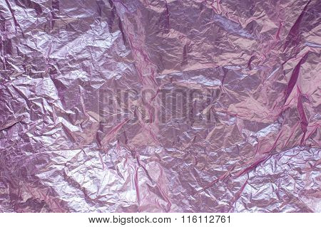 Background Of Crumpled Pink Paper