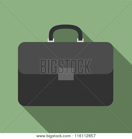 Briefcase With Long Shadow