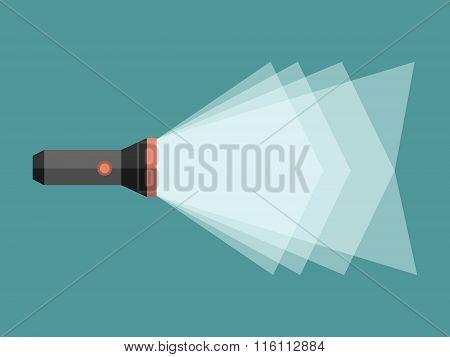 Flashlight With Light Beam
