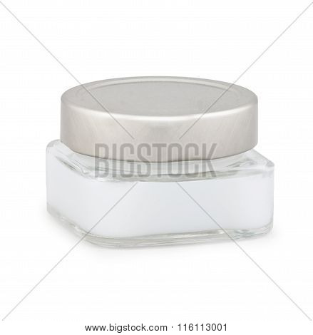 glass cosmetic cointainers with skin care natural product