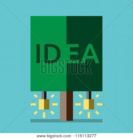 Idea Tree, Flat Style