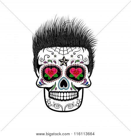 Sugar Skull. Vector Illustration.