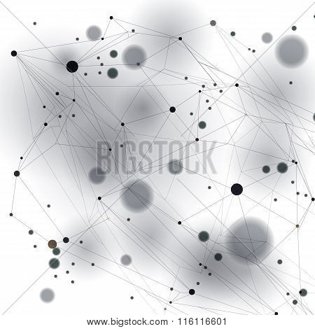 Geometric vector abstract 3D complicated op art backdrop  internet technology illustration
