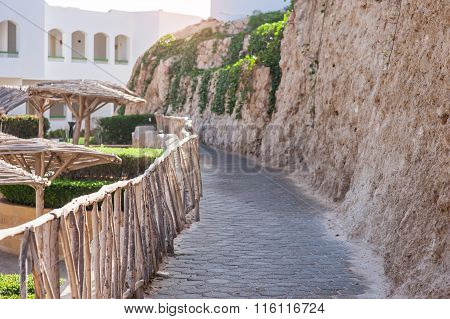 Stone Paths For Walking On The Hotel