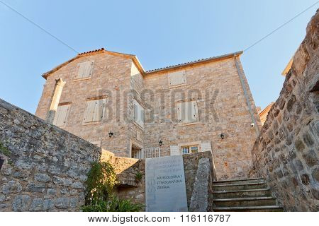 Archaeological Museum In Old Town Of Budva, Montenegro