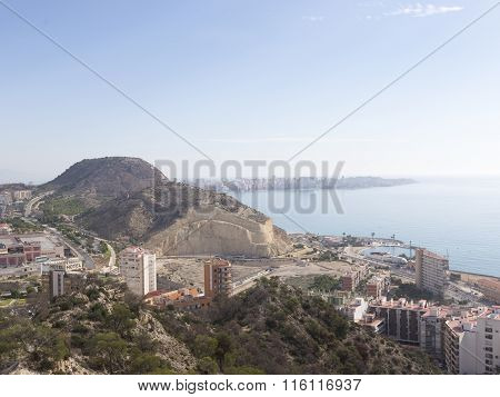 The Coastline Of The City Of Alicante