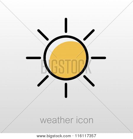 Sun Icon. Meteorology. Weather