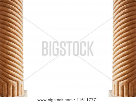 Two Columns Isolated On White Background