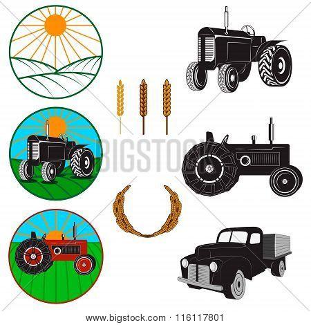 Farm Fresh Labels. Tractors
