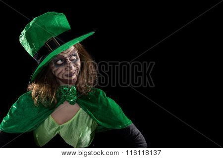 Leprechaun Looking To Copyspace, Concept Ireland And St. Patrick´s Day