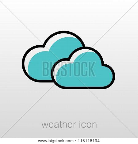 Clouds Icon. Meteorology. Weather