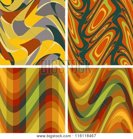 Abstract Colour Seamless Patterns