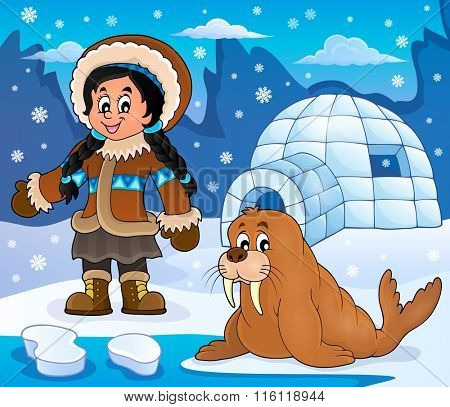 Arctic theme image 4 - eps10 vector illustration.