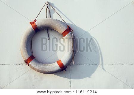 Lifebuoy On The Boat