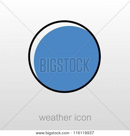 Full Moon Outline Icon. Meteorology. Weather