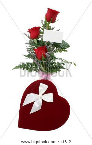 Flowers And Candy With Gift Card (8.2mp Image) poster