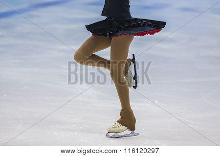 girl skater on ice sports arena
