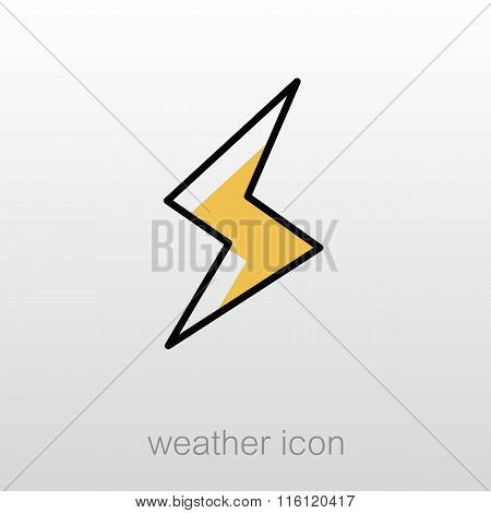 Lightning Icon. Meteorology. Weather