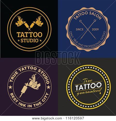 Set Tattoo Logos Of Different Styles