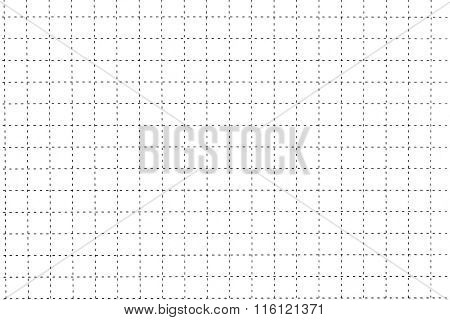White Plastic Board With Dotted Line Like As Graph Paper