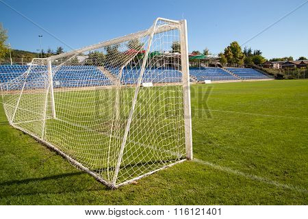 Net Soccer Goal Football Green Grass
