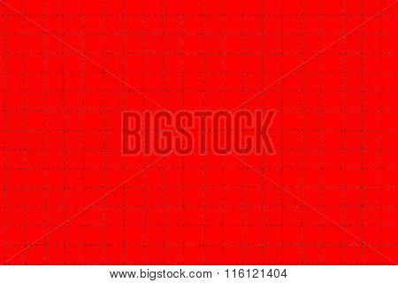 Red Plastic Board With Dotted Line Like As Graph Paper
